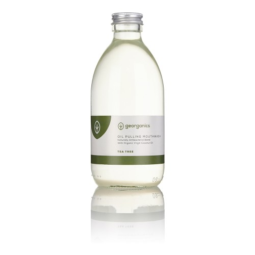 "Enjuague Bucal Natural Antibacteriano ""Oil Pulling"" de Aceite de Coco - Árbol de Té 300ml"