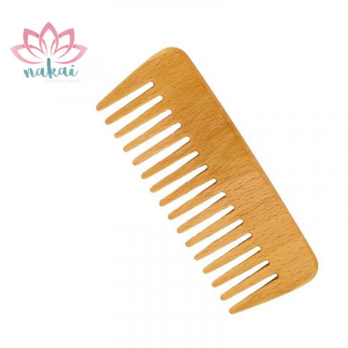 Forsters Peine de madera de diente ancho, Haya | para cabello rizado
