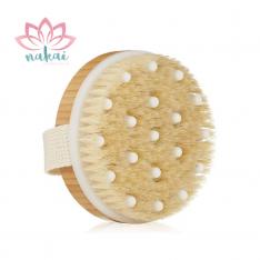 Cepillo de bambú para masaje en seco