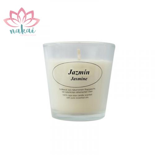 Vela Aromáticas con vaso cristal Jazmín