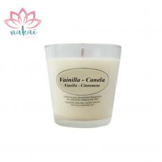Vela Aromática con vaso cristal Vainilla & Canela