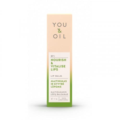 Bálsamo labial nutritivo y revitalizante, 7g YOU & OIL